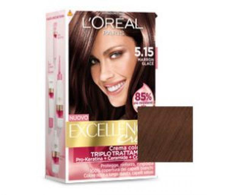 L 39 oreal excellence creme marron glac tintura per capelli - Bagno di colore l oreal ...