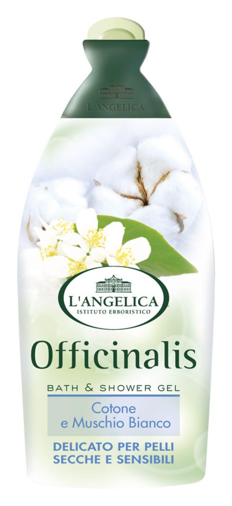 l 39 angelica bagnoschiuma cotone e muschio bianco per pelli