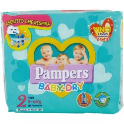 PAMPERS Baby Dry 2 Pannolini Mini (3-6 kg) - 24pz