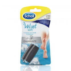 SCHOLL Velvet Soft Ricarica - 1 Soft Touch +1 Extra Esfoliante