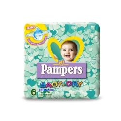 PAMPERS Baby Dry 6 Pannolini Extra-Large (15-30 kg) - 15pz