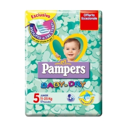 PAMPERS Baby Dry Junior 5 Pannolini Junior (11-25 kg) - 17pz